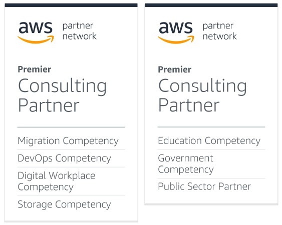 AWS Competency - Migration, DevOps, Digital Workplace, Storage, Education, Government, Public Sector
